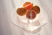 Boston, MA 121709      Crate & Barrel glass cake stand with blood oranges for a year end wrap up on favorite items by December 17, 2009. (Essdras M Suarez/ Boston Globe)/ G
