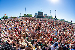 Pic of the crowd as Gerry Cinnamon plays the main stage, on Saturday 30th June at TRNSMT 2018.