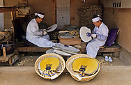 South Korea --- Artisans Making Traditional Fans