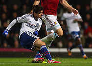 Picture by David Horn/Focus Images Ltd +44 7545 970036<br /> 23/11/2013<br /> Oscar of Chelsea scores his team's second goal to make it 2-0 during the Barclays Premier League match at the Boleyn Ground, London.