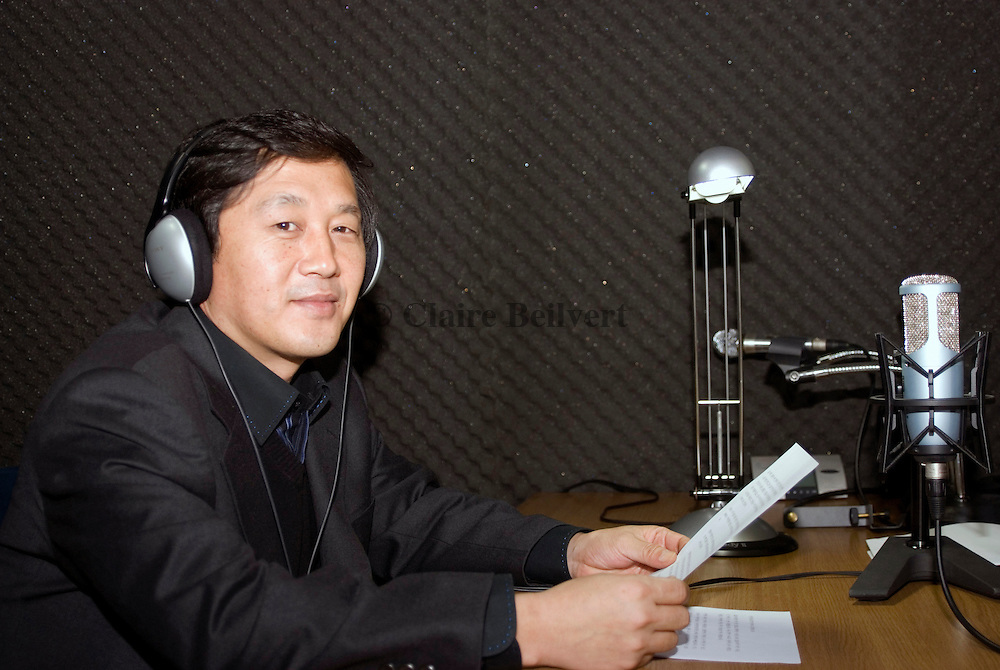 """Kim Sung-min, a former North Korean military propaganda writer, escaped his country several years ago. He is now living in Seoul and working for Free North Korea Radio (FNK). He is living under police protection as he was attacked many times """" by North Korean agents""""."""