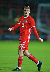 WREXHAM, WALES - Tuesday, September 10, 2019: Wales' substitute Ryan Stirk during the UEFA Under-21 Championship Italy 2019 Qualifying Group 9 match between Wales and Germany at the Racecourse Ground. (Pic by David Rawcliffe/Propaganda)