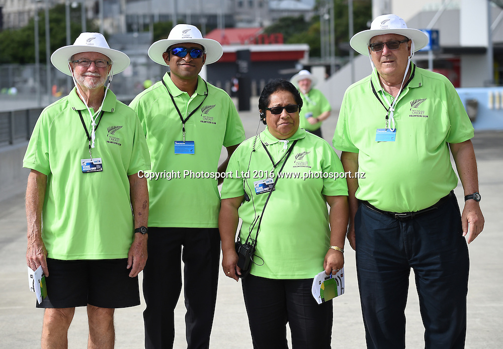 Volunteers at the Twenty20 match between New Zealand Black Caps and Pakistan at Eden Park in Auckland, New Zealand. Friday 15 January 2016. Copyright photo: Andrew Cornaga / www.photosport.nz