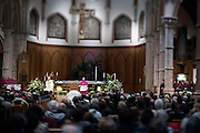 Photo by Michael R. Schmidt-Chicago, IL-April 21, 2015<br /> Rite of Reception of Cardinal Francis George, eighth Archbishop of Chicago at Holy Name Cathedral Tuesday afternoon in Chicago.