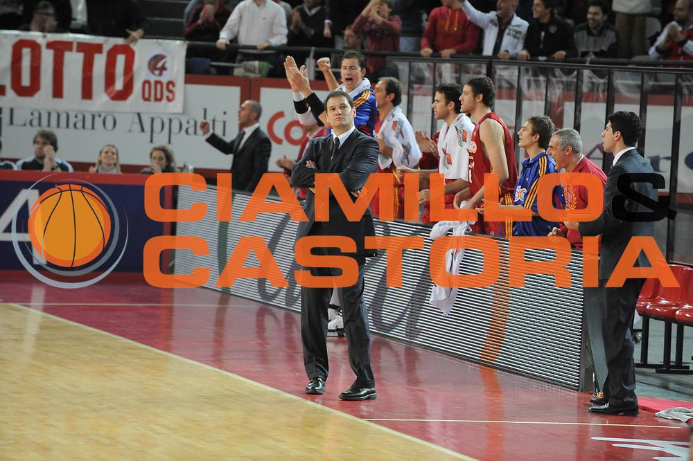 DESCRIZIONE : Roma Lega A1 2008-09 Lottomatica Virtus Roma Benetton Treviso<br /> GIOCATORE : Nando Gentile<br /> SQUADRA : Lottomatica Virtus Roma <br /> EVENTO : Campionato Lega A1 2008-2009<br /> GARA : Lottomatica Virtus Roma Benetton Treviso<br /> DATA : 14/12/2008<br /> CATEGORIA : ritratto esultanza <br /> SPORT : Pallacanestro<br /> AUTORE : Agenzia Ciamillo-Castoria/G.Ciamillo<br /> Galleria : Lega Basket A1 2008-2009<br /> Fotonotizia : Roma Campionato Italiano Lega A1 2008-2009 Lottomatica Virtus Roma Benetton Treviso<br /> Predefinita :