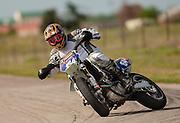 Supermoto racing at McArthur Park raceway in Oklahoma City