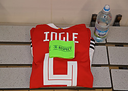 NEWPORT, WALES - Tuesday, September 3, 2019: The Wales shirt of captain Sophie Ingle in the dressing room before the UEFA Women Euro 2021 Qualifying Group C match between Wales and Northern Ireland at Rodney Parade. (Pic by David Rawcliffe/Propaganda)