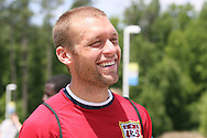 Jimmy Conrad on Wednesday, May 17th, 2006 at SAS Soccer Park in Cary, North Carolina. The United States Men's National Soccer Team held a training session as part of their preparations for the upcoming 2006 FIFA World Cup Finals being held in Germany.