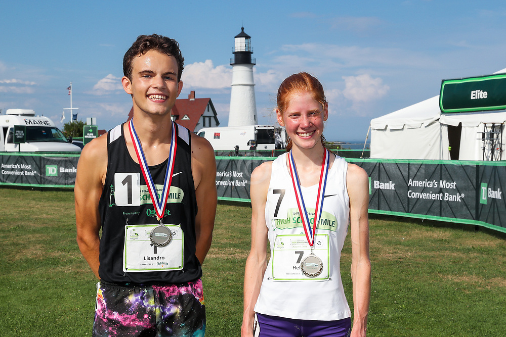 Beach to Beacon 10K road race<br /> High School Mile