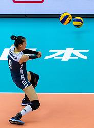 14-10-2018 JPN: World Championship Volleyball Women day 15, Nagoya<br /> China - United States of America 3-2 / Changning Zhang #9 of China
