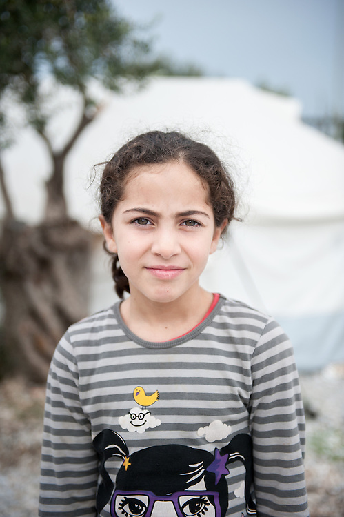 Maran 7 years old from Iraq in Kara Tepe camp in Lesvos, Greece