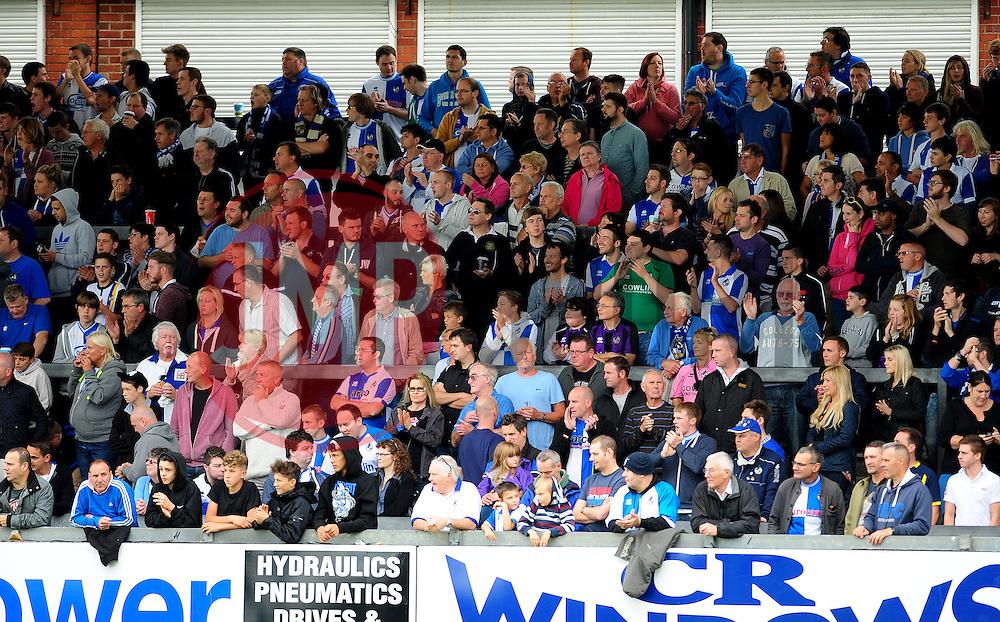 Bristol Rovers fans - Photo mandatory by-line: Neil Brookman - Mobile: 07966 386802 23/08/2014 - SPORT - FOOTBALL - Bristol - Memorial Stadium - Bristol Rovers v AFC Telford - Vanarama Football Conference