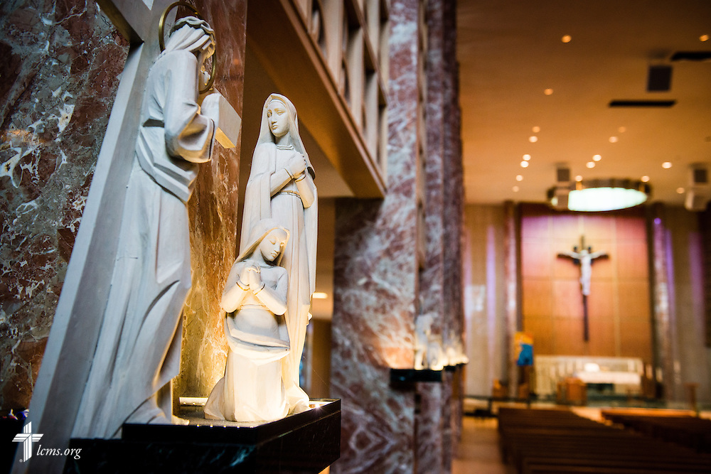 Interior photograph of Chapel of Christ Triumphant at Concordia University Wisconsin in Mequon, Wis., on Wednesday, May 28, 2014.  LCMS Communications/Erik M. Lunsford