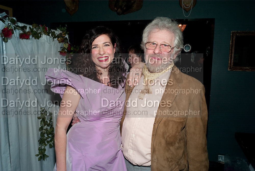 XANTHE MILTON AND HER FATHER  IVAN MILTON, Xanthie Milton / Cookie Girl Book Launch 'Eat Me'<br /> at Paradise by way of Kensal Green London. 2 March 2010