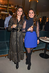 21 November 2019 - Sisters Joyce de Haas and Raissa de Haas founders of Double Dutch Drinks at the launch of Sam's Riverside Restaurant, 1 Crisp Walk, Hammersmith hosted by owner Sam Harrison, Edward Taylor and Jack Brooksbank.<br /> <br /> Photo by Dominic O'Neill/Desmond O'Neill Features Ltd.  +44(0)1306 731608  www.donfeatures.com