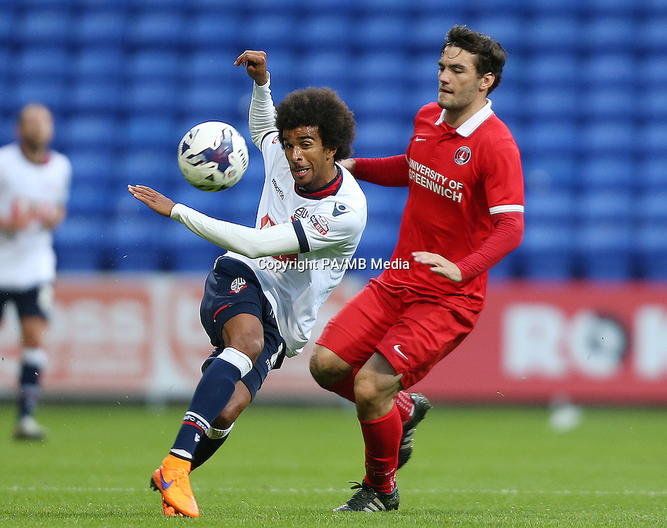 Bolton Wanderers' Derik Osede and Charlton Athletic's Tony Watt