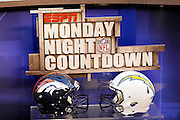 The ESPN NFL Monday Night Countdown is set up for the San Diego Chargers NFL week 11 football game against the Denver Broncos on Monday, November 22, 2010 in San Diego, California. The Chargers won the game 35-14. (©Paul Anthony Spinelli)