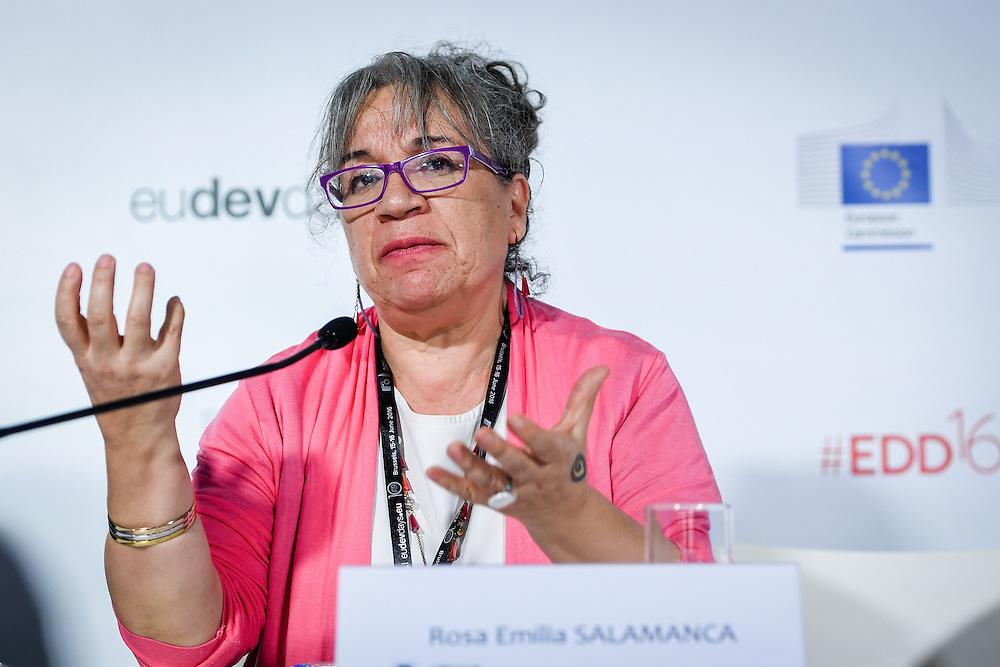 20160615 - Brussels , Belgium - 2016 June 15th - European Development Days - The people's peace - Rosa Emilia Salamanca , Director , Corporacion de Investigacion y Accion Social y Economica © European Union
