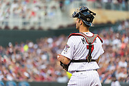 Joe Mauer #7 of the Minnesota Twins looks on during a game against the Philadelphia Phillies on June 11, 2013 at Target Field in Minneapolis, Minnesota.  The Twins defeated the Phillies 3 to 2.  Photo: Ben Krause