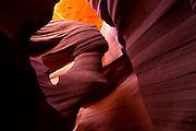 Lower Antelope Canyon, a slot canyon near Page, Arizona.