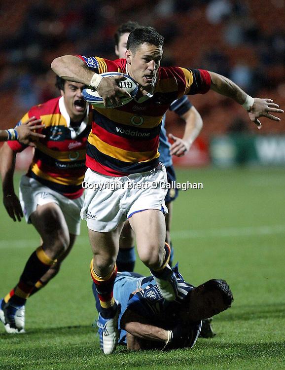 David Hill in action during the Rugby Air New Zealand NPC match between Waikato and Northland at Waikato Stadium, Hamilton, September 11 2004. Waikato won 41-21<br />PHOTO: Photosport