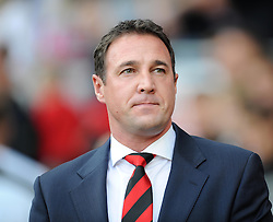 Cardiff City Manager, Malky Mackay - Photo mandatory by-line: Alex James/JMP - Tel: Mobile: 07966 386802 05/10/2013 - SPORT - FOOTBALL - Cardiff City Stadium - Cardiff - Cardiff City V Newcastle United - Premiership
