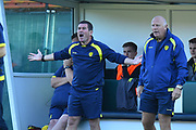 Burton Albion manager Nigel Clough show his frustration during the EFL Sky Bet League 1 match between Plymouth Argyle and Burton Albion at Home Park, Plymouth, England on 20 October 2018.