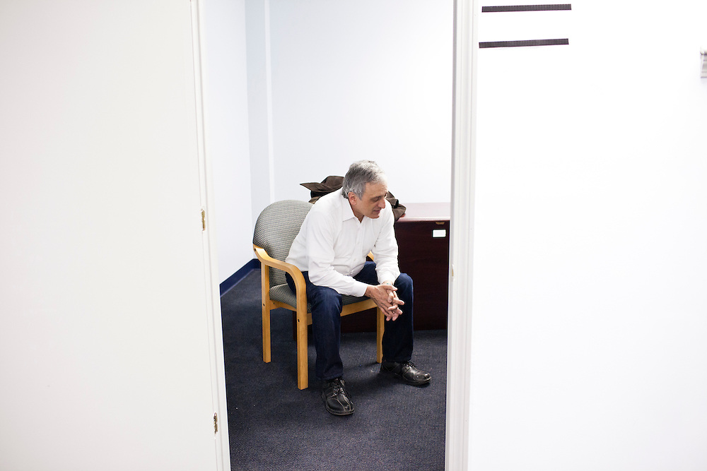 Former New York Republican gubernatorial candidate Carl Paladino sits for an interview at the New Hampshire campaign headquarters for Republican presidential candidate Newt Gingrich on Sunday, January 8, 2012 in Manchester, NH. Brendan Hoffman for the New York Times