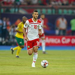 Younes Belhanda of Morocco during the African Cup of Nations match between South Africa and Morocco on July 1st, 2019. Photo : Ulrik Pedersen / Icon Sport
