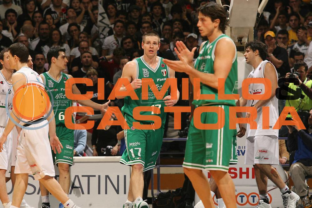 DESCRIZIONE : Bologna Coppa Italia 2006-07 Finale VidiVici Virtus Bologna Benetton Treviso<br /> GIOCATORE : Nelson Mordente<br /> SQUADRA : Benetton Treviso<br /> EVENTO : Campionato Lega A1 2006-2007 Tim Cup Final Eight Coppa Italia Finale<br /> GARA : VidiVici Virtus Bologna Benetton Treviso<br /> DATA : 11/02/2007<br /> CATEGORIA : Esultanza<br /> SPORT : Pallacanestro <br /> AUTORE : Agenzia Ciamillo-Castoria/M.Marchi