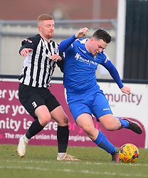 SAM WARBURTON CORBY  TOWN MARKS DUNSTABLE JOE MEAD,  Corby Town v Dunstable Town Evostik Southern League Division One Central  Steel Park Stadium, Saturday 9th February 2019. Score 1-2 (Kennedy), (Trif, Wreh)