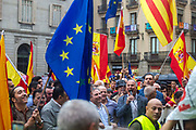 1 OCT 2017 - the Pro Catalan independence  referendum weekend in Barcelona