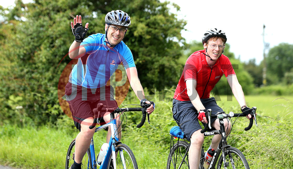 Cyclists take part in the 111 mile cycling challenge organised by the Community Foundations of Bristol and Gloucester Rugby - Mandatory by-line: Robbie Stephenson/JMP - 03/07/2016 - CYCLING - Bannerdown - Bath, United Kingdom - Break The Cycle Challenge 2016