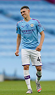 Phil Foden of Manchester City celebrates scoring the first goal during the Premier League match at the Etihad Stadium, Manchester. Picture date: 22nd February 2020. Picture credit should read: Andrew Yates/Sportimage