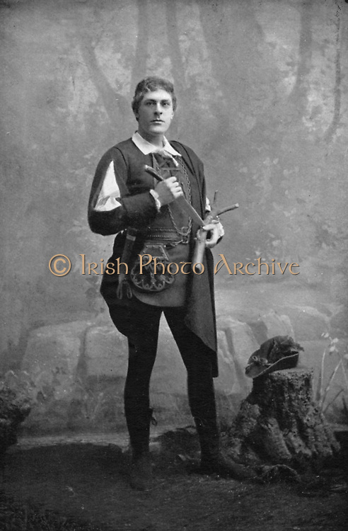 George Alexander (1858-1918) English actor-manager. Alexander as Orlando in Shakespeare 'As You Like It'. Spent some years in Henry Irving's company. Presented Oscar Wilde's 'Lady Windemere's Fan' (1892)  and Pinero's 'The Second Mrs Tanqueray'. Considered avant-garde.