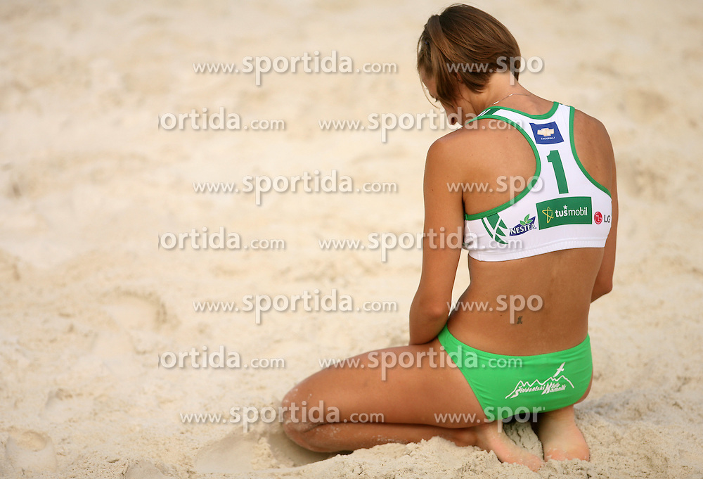 Ursa Podlesnik  (SPORT Caffee SKK Team) at qualifications for 14th National Championship of Slovenia in Beach Volleyball and also 4th tournament of series TUSMOBIL LG presented by Nestea, on July 25, 2008, in Kranj, Slovenija. (Photo by Vid Ponikvar / Sportal Images)/ Sportida)