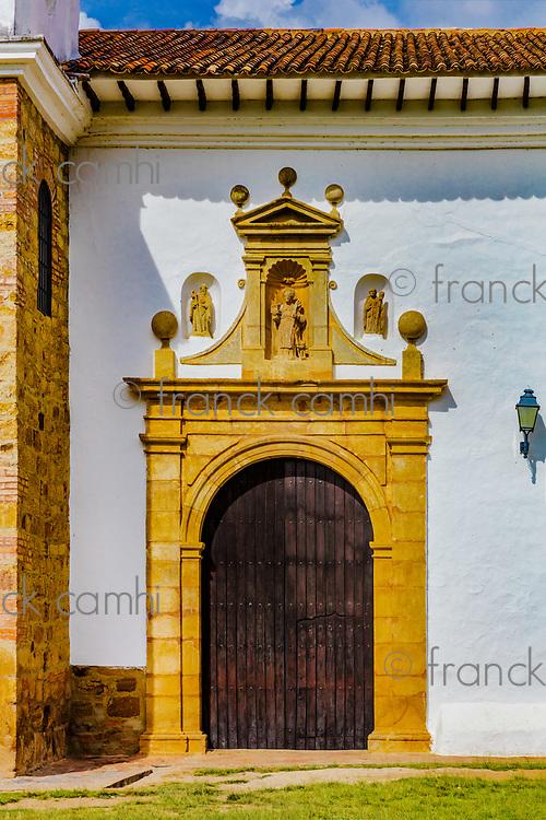old church of Villa de Leyva Boyaca in Colombia South America