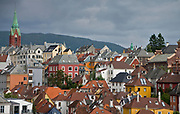 Bergen city and the Sydnes-area around Johannes Kirken (Johannes Church)