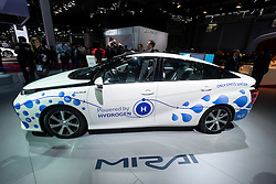 Toyota Mirai hydrogen fuel-cell vehicle at Paris Motor Show 2016