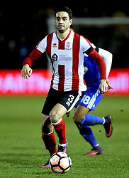 Samuel Habergham of Lincoln City - Mandatory by-line: Robbie Stephenson/JMP - 17/01/2017 - FOOTBALL - Sincil Bank Stadium - Lincoln, England - Lincoln City v Ipswich Town - Emirates FA Cup third round replay