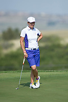 Bildnummer: 14231520  Datum: 16.08.2013  Copyright: imago/Icon SMI<br /> 16 AUGUST 2013: Catriona Matthew of Scotland and the European Team during the foursome matches on day 1 of The Solheim Cup at the Colorado Golf Club in Parker, Colorado. GOLF: AUG 16 LPGA Golf Damen - The Solheim Cup - First Round