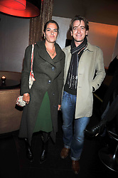 TRACEY EMIN and SCOTT DOUGLAS at a reception following the screening of the film '44 Inch Chest' part of the 2009 BFI London Film Festival, held at Maddox, 3-5 Mill Street, London on 17th October 2009.