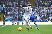 Mateusz Klich of Leeds United (43) gets past his marker during the EFL Sky Bet Championship match between Leeds United and Bolton Wanderers at Elland Road, Leeds, England on 23 February 2019.