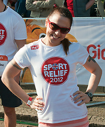 Former spice girl Mel Chisholm taking part in a one mile run for Sport Relief charity in London, 25th March 2012.  Photo by: i-Images