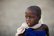 Ngare Sero, TANZANIA. August 11th 2009..A Maasai kid.