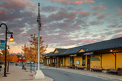 """""""Downtown Truckee 62"""" - Photograph of historic Downtown Truckee shot at sunset in Autumn."""