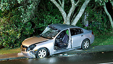 Auckland-Female driver critical after car collides with tree, Avondale