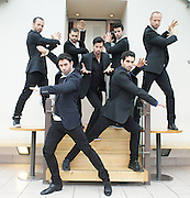 LOS VIVANCOS<br /> photocall<br /> at the London Coliseum , London, Great Britain<br /> 28th May 2013 <br /> <br /> <br /> to promote  one off show 9th July 2013  <br /> <br /> Los Vivancos - Aaron, Cristo, Elias, Israel, Josu&eacute;, Josua and Judah Vivancos - are 7 Spanish brothers with model looks and killer dance moves. They are one of Spain&rsquo;s biggest global success stories, dancing up a storm and winning standing ovations from more than a million people to date. Now it&rsquo;s London&rsquo;s turn to fall under their spell as they make their West End debut in a good-versus-evil story set in the world of the paranormal and supernatural with the brothers playing angels, demons and vampires, at the London Coliseum for one night only on Tuesday July 9. <br /> <br /> <br /> <br /> Photograph by Elliott Franks