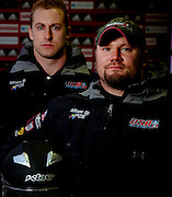 U.S. World Championship two-man bobsled team driver Steven Holcomb (right) and brakeman Curt Tomasevicz at the Bobsled World Championships in Lake Placid, N.Y., Thursday, Feb 19, 2009. (Photo/Todd Bissonette - usabobsledphotos.com)