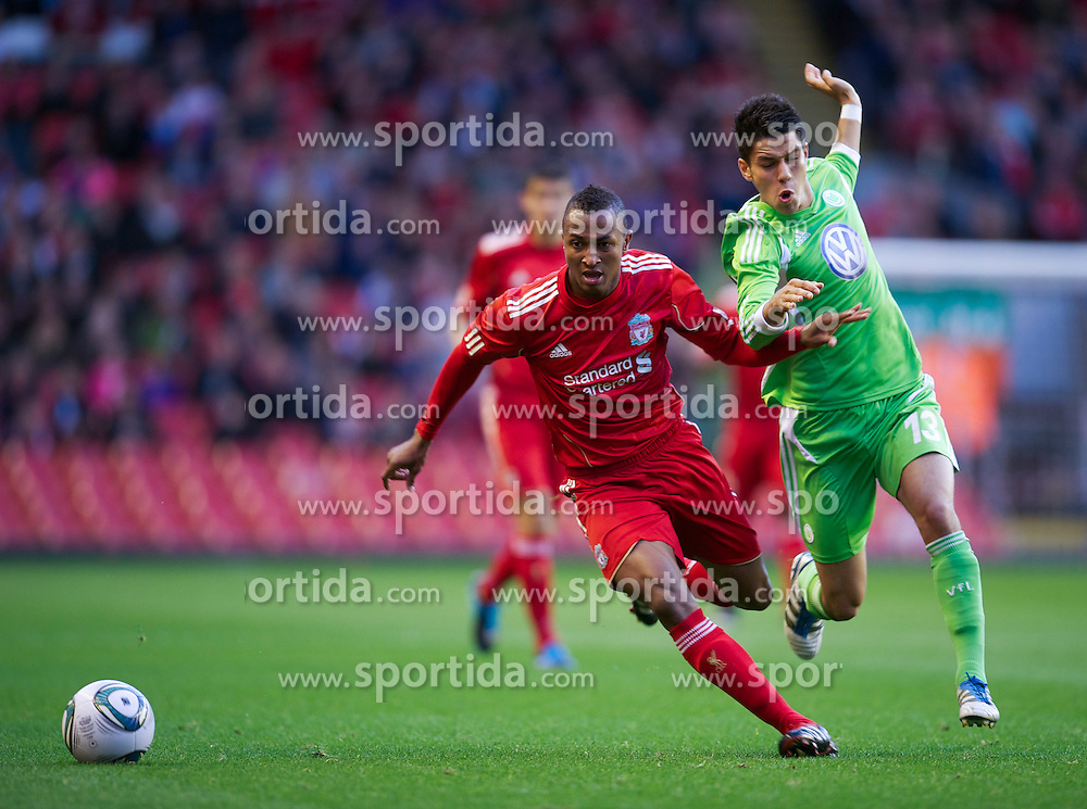 14.09.2011, Anfield, Liverpool, ENG, NextGen Series, Liverpool FC vs VfL Wolfsburg, im Bild Liverpool's Toni Brito De Silva in action against VfL Wolfsburg's David Chamorro during the NextGen Series Group 2 match at Anfield. . EXPA Pictures © 2011, PhotoCredit: EXPA/ Propaganda Photo/ David Rawcliff +++++ ATTENTION - OUT OF ENGLAND/GBR+++++